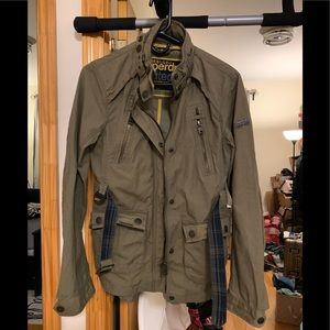 Super dry military style jacket size s